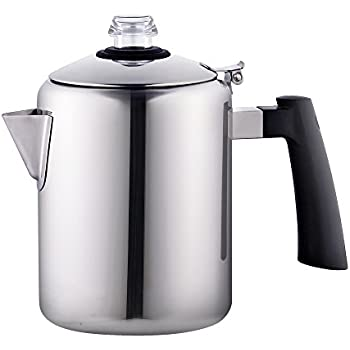 Cook N Home 02544 Stovetop Percolator, Silver