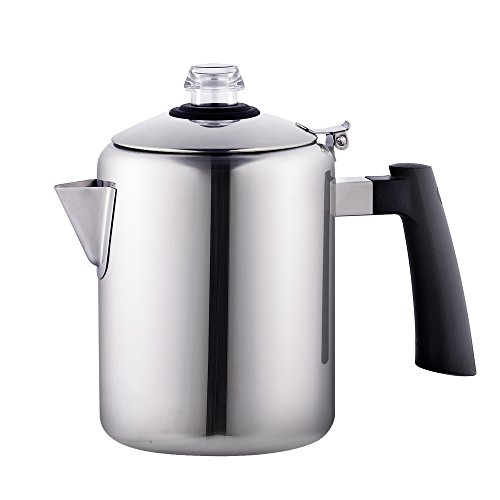 Camp Coffee Percolator - Cook N Home 8-Cup Stainless Steel Stovetop Coffee Percolator Pot Kettle, Tea