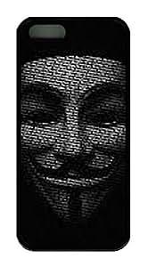 iCustomonline V For Vendetta TPU Black Soft Back Case Cover for iPhone 5 5S