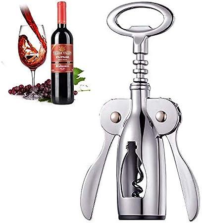 LHKJ Abrebotellas de Vino Sacacorchos de Camareros Acero Inoxidable Wing Corkscrew abridor de Botellas para Vino y Cerveza