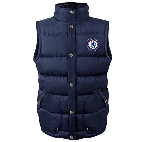 Chelsea FC Official Soccer Gift Mens Padded Body Warmer Gilet Medium ()