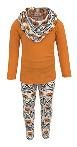 Unique Baby Girls 3 Piece Halloween Pumpkin Pattern