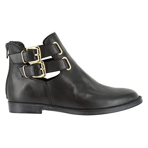 Bella Vita Womens Ramona Ankle Bootie Black Leather