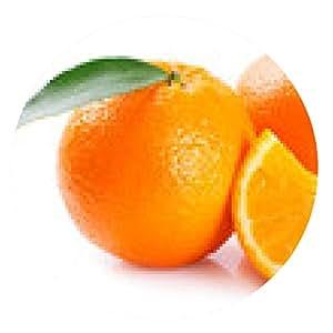 alfombrilla de ratón Naranja fresca - ronda - 20cm