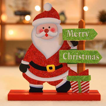 Christmas 2017 Table Decoration Wood Christmas Snowman Santa Claus Ornament Decor Crafts - Festival Gifts & Party Supplies Christmas Sale - (Santa Claus) - 1 x Wood -