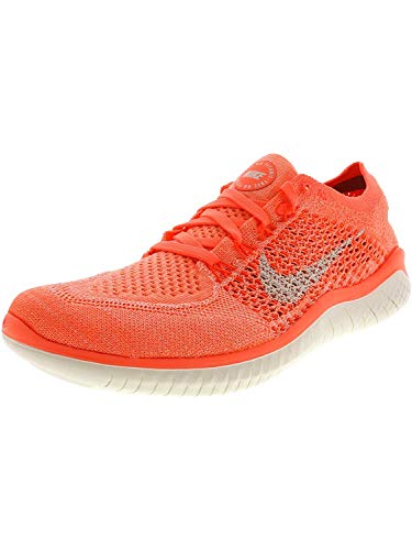 Nike Free RN Flyknit 2018 Women's Running, Size 7, Color Crimson Pulse/Sail (Orange Nike Shoes Women)