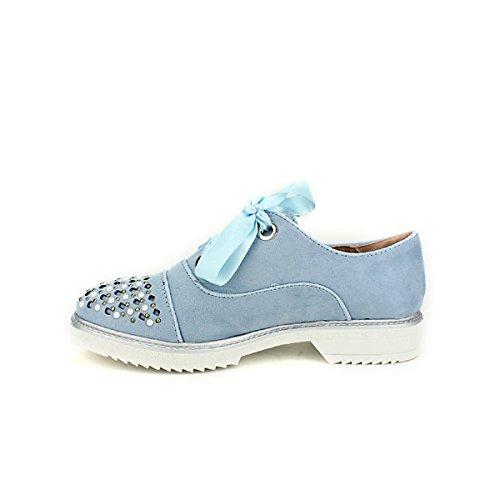 Cendriyon Chaussures Derbies Femme Mode PINKAS Bleu Bleues rAZzq4xr