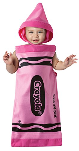 [UHC Baby's Crayola Tickle Me Pink Bunting Infant Fancy Dress Halloween Costume, 3-9M] (Baby Girl Marvel Costumes)