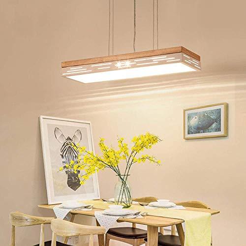 DEE Decorative Chandelier-Modern Simple Hanging Light Led Pendant Lamp Wooden Hanging Lamp for Living Room Pendant Light Dining Room Lamp Suspension Hollow Wood Art Led Hanging Light Studio Light [En ()