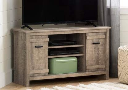 Amazon Com Tv Stands For Flat Screens 42 Weathered Oak Wood