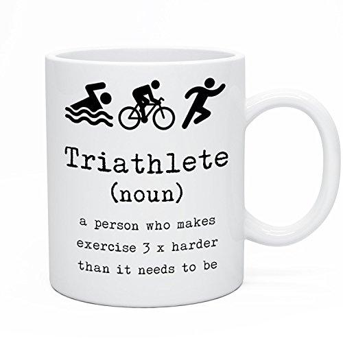 SAYOMEN - Triathlete Tea Coffee Mug. Triathlon Tea Coffee Mug. Triathlon Gift Idea. Triathlete Birthday Gift Idea. Keep Fit Sports Athlete Mug Him Her MUG 15oz (Dallas-triathlon)