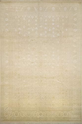 Rug Hand Knotted Stately - Noori Rug M1423 Fine Galaxy Omar Area Rug, Beige