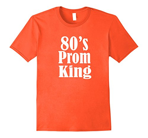 80s Prom Costumes Guys (Men's Men's 80's Prom King Eighties Them Party Shirt Costume 2XL Orange)