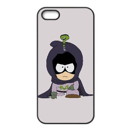 Mysterion South Park coque iPhone 4 4S Housse téléphone Noir de couverture de cas coque EOKXLKNBC22750