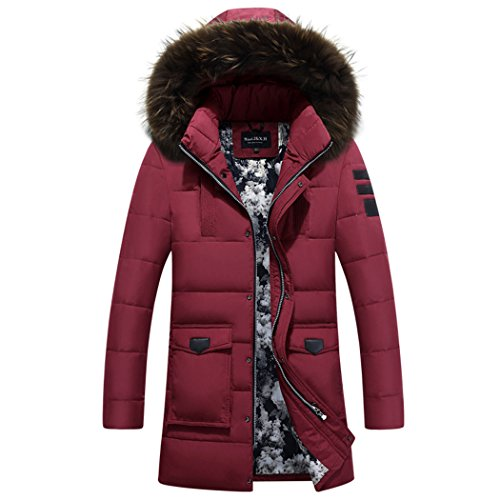 XXL hooded warm men's In long the winter jacket HHY gules Hwqx7Ozan