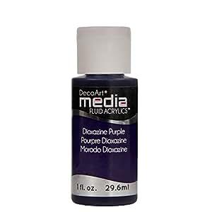 Deco Art Media Fluid Acrylic Paint, 1-Ounce, Dioxazine Purple