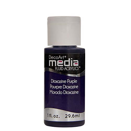 Fluid Media - DecoArt Media Fluid Acrylic Paint, 1-Ounce, Dioxazine Purple