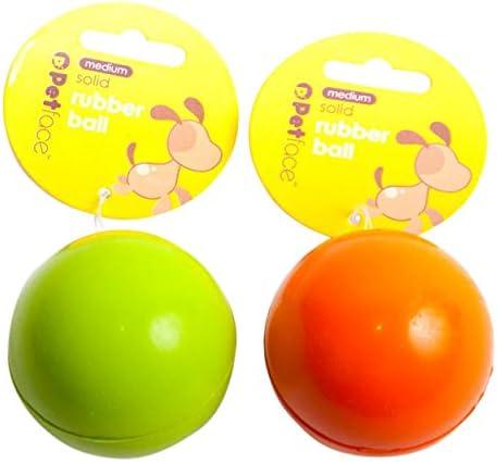 Petface Bola de Goma Maciza Perro de Juguete, 6,6 cm, Verde/Naranja: Amazon.es: Productos para mascotas