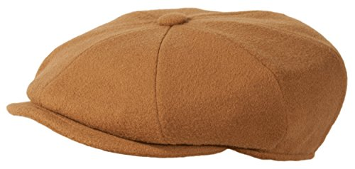 Levine Cashmere 'Classico' 8-Panel Newsboy Cap (Medium (fits 7 to 7 1/8), Camel)