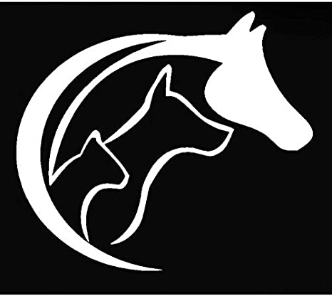 HORSE HEART 5.5 Wide Silhouette Die Cut Decal Sticker for Laptop Car Window Tablet Skateboard WHITE LEESONS INC