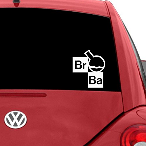 Titans unique design Breaking Bad Flask Car Decal, White, 12