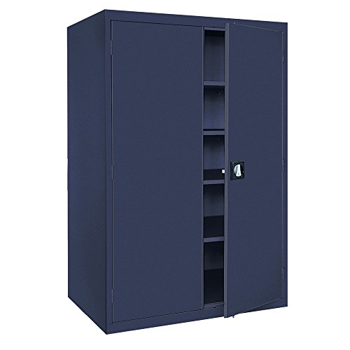 (Sandusky Lee EA4R462478-A6 Welded Steel Elite Storage Cabinet with Adjustable Shelves, 24