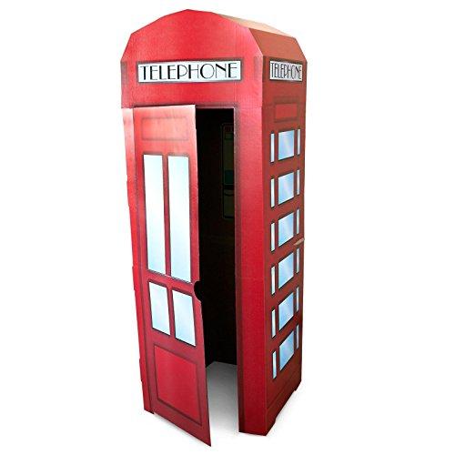 [Superhero Comics Red Telephone Box Room Decor - Phone Booth Cardboard Standup] (Red Phone Booth Costume)