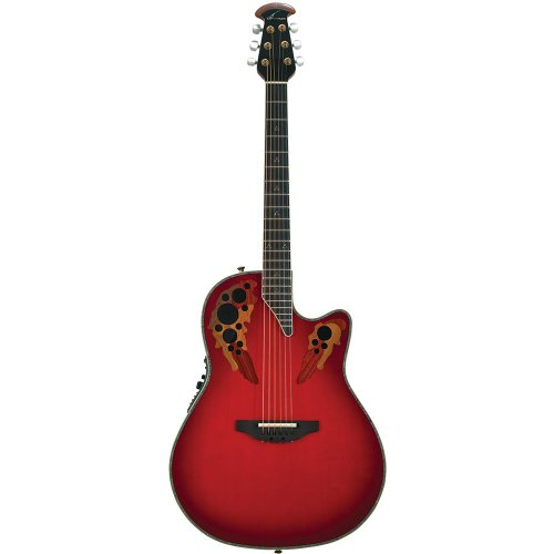 (Ovation AX Series C2078AX-RTD Acoustic-Electric Guitar, Red Tear Drop)