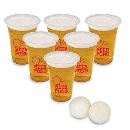 Party Drinking Beer Pong gioco con 2 palline ping pong BM