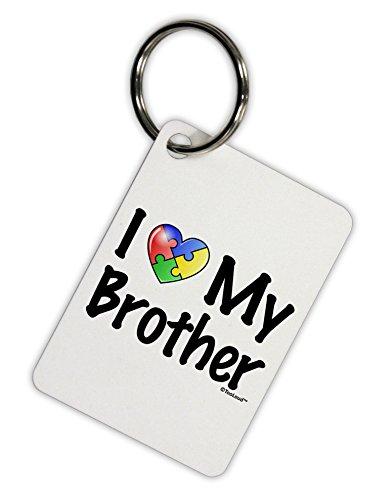 - TooLoud I Heart My Brother - Autism Awareness Aluminum Keyring Tag