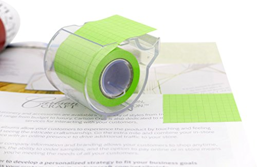 4A Roll Sticky Notes,Full Adhesive,Width x Length 2 x 315 Inches,Neon Green,Grid,Self-Stick Notes,1 Roll/Pack,4A PSS 9-1 NG Grid
