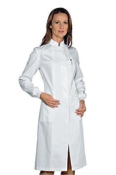 Isacco Camice Ponza Bianco, Bianco, S, 100% Cotone, Polso in Maglia