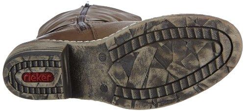 Rieker 93776 - Botas tacón, talla: 36, color: negro marrón - Braun (torf 25)