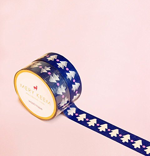 Christmas Tree Washi Tape for Planning • Scrapbooking • Arts Crafts • Office • Party Supplies • Gift Wrapping • Colorful Decorative • Masking Tapes • DIY from MERYKEEM