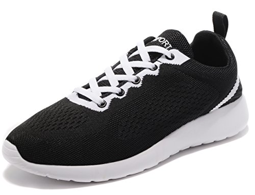 Image of HSX SPORTS Men Women Knit Breathable Casual Fashion Lightweight Sneakers Walking Athletic Running Shoes
