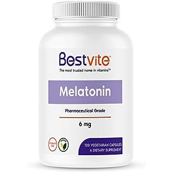 Melatonin 6mg (120 Vegetarian Capsules) - No Stearates - No Flow Agents