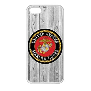Customized Personalized United States Marine Corps (USMC) Apple iphone 5 or 5s TPU (Laser Technology) Case, Cell Phone Cover