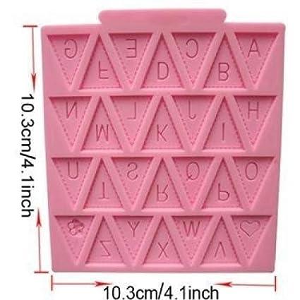 Banderines de bandera de letra de silicona Fondant molde decoración de pasteles Chocolate molde: Amazon.es: Hogar