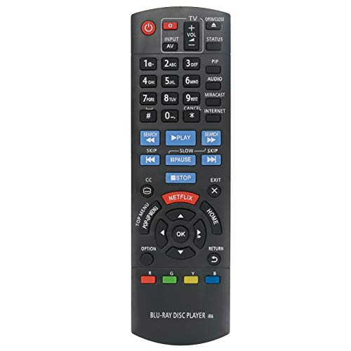 New N2QAYB000953 Replace Remote Control fit for Panasonic Blu-ray Bluray Blu Ray Disc Player IR6 DMP-BDT360 DMP-BDT361 DMP-BDT460 DMP-BDT460PS DMPBDT360 DMPBDT361 DMPBDT460 DMPBDT460PS