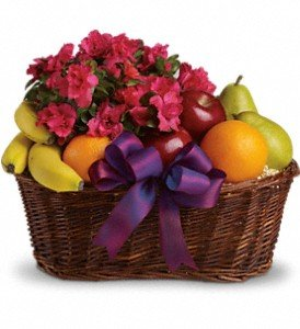 Fruits and Flowers Gift Basket by Mr. Bokay Flowers & Greenhouse Nationwide Florist (Flower Fruit Delivery)