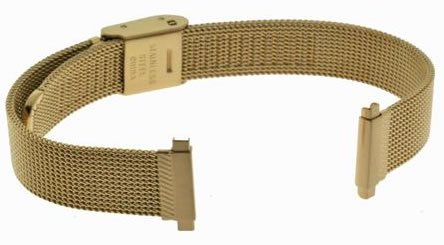 US Jewels And Gems New Ladies 12mm - 15mm Gold Finish Watch Bracelet Band