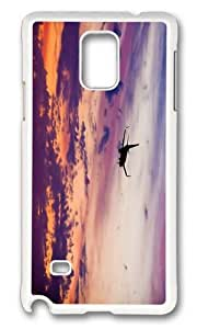 MOKSHOP Adorable Boeing 747 airliner plane sunset Hard Case Protective Shell Cell Phone Cover For Samsung Galaxy Note 4 - PC White