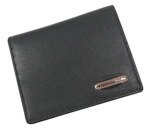 Harley-Davidson Men's Soft Napa Leather Bi-Fold Plus One Wallet NP5731L-BLACK ()