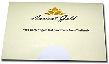 Gold Leaf Sheets 30 pcs. Size 1.2X1.2 Ancient Gold Leaf