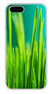 iPhone 5 5S Case Grass 3 PC Custom iPhone 5 5S Case Cover White