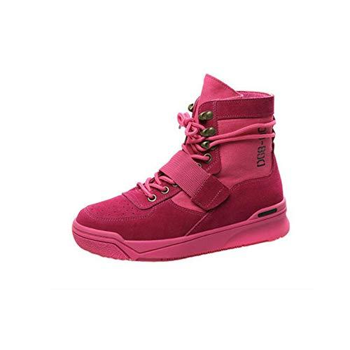 Red la Wild Botas Altas CN40 Rose versión de Color de Size EU39 Gruesa Coreanas FH The 5 Boots de UK6 Mujer 4qCZCP
