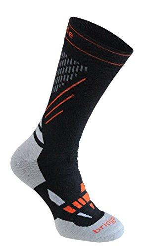 Bridgedale Cross Country Race Socks, Black/Stone, Large