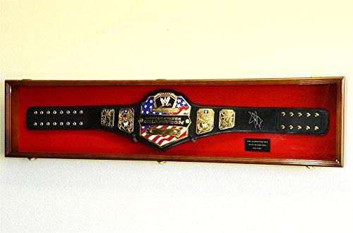 WWE WWF WRESTLING CHAMPIONSHIP ADULT SIZE BELT DISPLAY CA...
