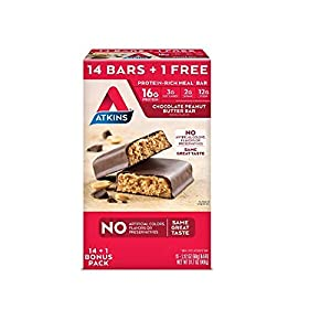 Atkins Snack Bars Cookies N Crme 14g Protein 1g Sugar 4g Net Carbs 9-ounce 5-bars Packaging May Vary by Atkins
