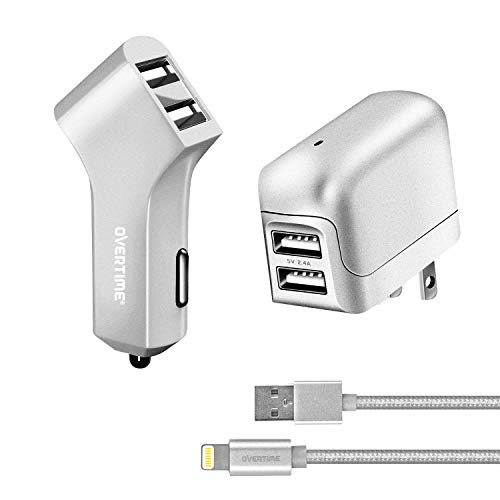- Apple MFI Certified Lightning USB iPhone Charger Kit - Wall & Car Charger Adapter Plus 6ft Lightning Cable for iPhone X, XS, XS Max, XR, 8 iPad Pro, Air, Mini